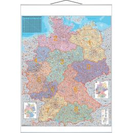 FRANKEN Postleitzahlen-Karte, laminiert, 970 x 1.370 mm