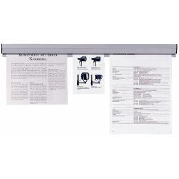 FRANKEN Papierklemmschiene, selbstklebend, Länge: 1.180 mm