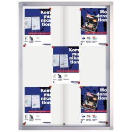 FRANKEN Schaukasten PRO für 8x DIN A4, Metall-Rückwand