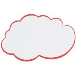 FRANKEN Moderationskarte Wolke, 620 x 370 mm, weiß mit