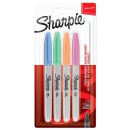 Sharpie Permanent-Marker FINE Pastell, 4er Blister