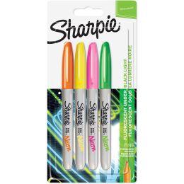 Sharpie Permanent-Marker FINE Neon, 4er Blister