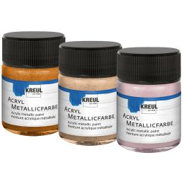 KREUL Acryl-Metallicfarbe, roségold, 20 ml