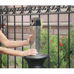 Rubbermaid Standascher GroundsKeeper Tuscan, rund, schwarz