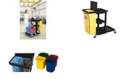 Rubbermaid Eimer-Set für Reinigungswagen, 4-teilig