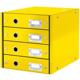 LEITZ Schubladenbox Click & Store WOW, 4 Schübe, gelb
