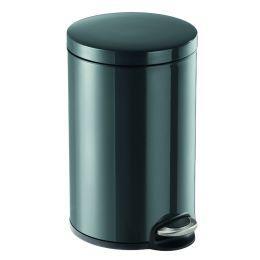 DURABLE Tret-Abfalleimer Metall, rund, 12 Liter, anthrazit
