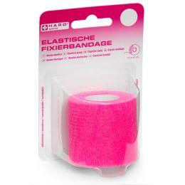HARO Elastische Fixierbandage, 50 mm x 4,5 m, pink