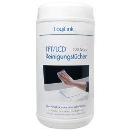 LogiLink TFT/LCD/Plasma Reinigungstücher, 100er Spenderdose