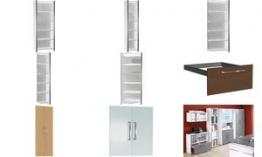 kerkmann Vorbautüren-Set für Regal, 2 Ordnerhöhen, graphit