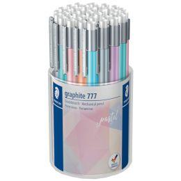STAEDTLER Druckbleistift graphite 777 pastel, 36er Köcher