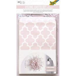 folia Sterne-Bastelset Papiertüten für 3 Sterne, rosa/weiß