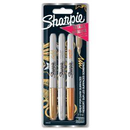 Sharpie Permanent-Marker Metallic, 3er Blisterkarte