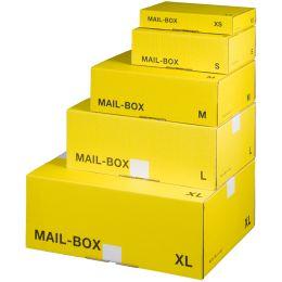 smartboxpro Paket-Versandkarton MAIL BOX, Größe: XS, gelb