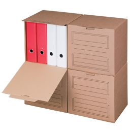 SMARTBOXPRO Archiv-Container, mit Frontdeckel, braun