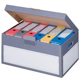 SMARTBOXPRO Archiv-Klappdeckelbox, grau