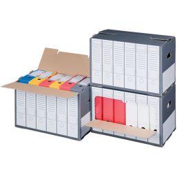 SMARTBOXPRO Archiv-Container, grau, mit perforiertem Deckel