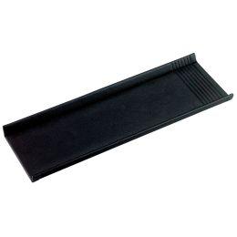 Läufer Stifteschale LA LINEA, aus Leder, schwarz