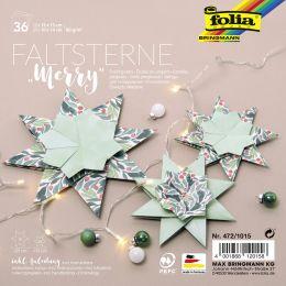 folia Faltsterne-Set Merry (Meißner-Technik)