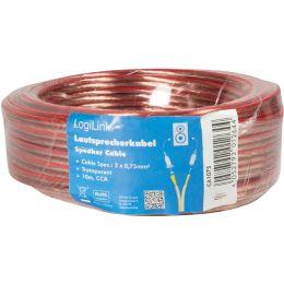 LogiLink Lautsprecherkabel, 2 x 0,75 qmm, 10 m