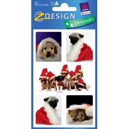 AVERY Zweckform ZDesign Weihnachts-Sticker Hund