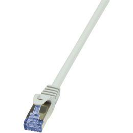 LogiLink Patchkabel PrimeLine, Kat. 6A, S/FTP, 0,25 m, grau