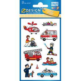 AVERY Zweckform ZDesign Berufe-Sticker Feuerwehr/Polizei/