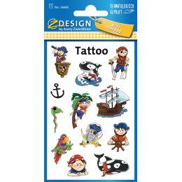 AVERY Zweckform ZDesign Kids Tattoos Piraten