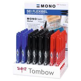 Tombow Doppel-Fineliner MONO twin, 48er Display