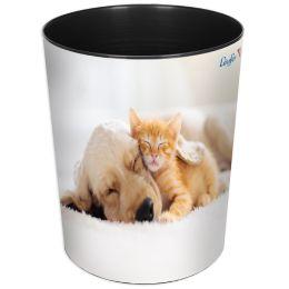 Läufer Papierkorb Hund und Katze