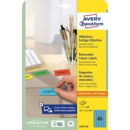 AVERY Zweckform Mini-Etiketten, 25,4 x 10 mm, blau