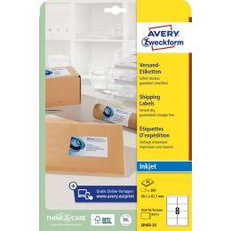 AVERY Zweckform Inkjet Versand-Etiketten, 99,1 x 57 mm, weiß