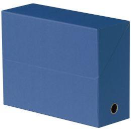 ELBA Dokumentenmappe, aus Wellpappe, blau