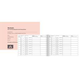 RNK Verlag Nachweisheft für rote Kennzeichen, DIN A5 quer
