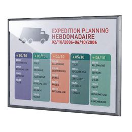 PAPERFLOW Wandschild Info Display, DIN A3, Farbe: alu-grau