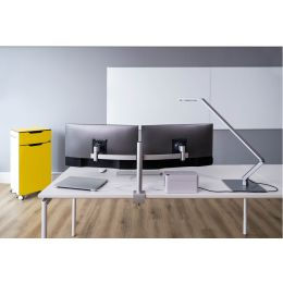 DURABLE Monitorhalterung für 2 Monitore, Tischklemme