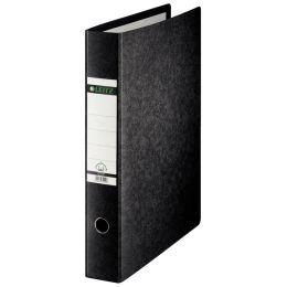 LEITZ Hartpappe-Ordner, 180 Grad, DIN A5 quer, 77 mm,schwarz