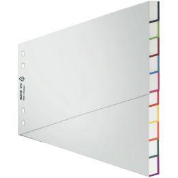 LEITZ Kunststoff-Register, blanko, A4 Überbreite, 5-teilig