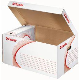 Esselte Archiv-Klappdeckelbox, DIN A4, weiß