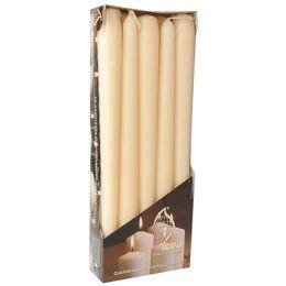 FLAVOUR by Gala Leuchterkerzen, 20 mm, creme, 10er Pack