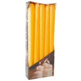 FLAVOUR by Gala Leuchterkerzen, 20 mm, goldgelb, 10er Pack