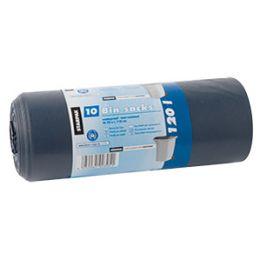 STARPAK Müllsäcke LDPE, 120 Liter, blau-schwarz
