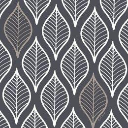 PAPSTAR Motivservietten Leafy, 330 x 330 mm, dunkelgrau