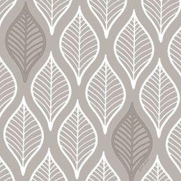 PAPSTAR Motivservietten Leafy, 330 x 330 mm, hellgrau