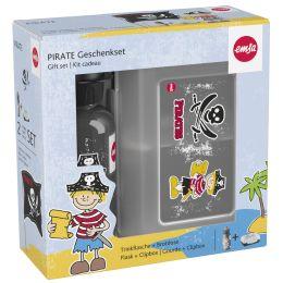 emsa KIDS Set Trinkflasche + Brotdose, Motiv: Pirat