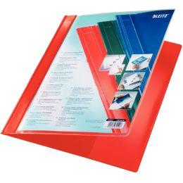 LEITZ Exquisit Plastik-Hefter mit Präsentationstasche, rot