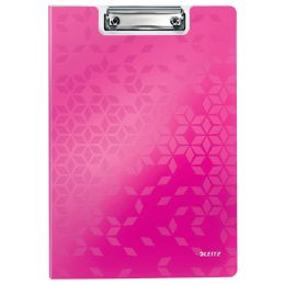 LEITZ Klemmbrett-Mappe WOW, DIN A4, Polyfoam, pink-metallic