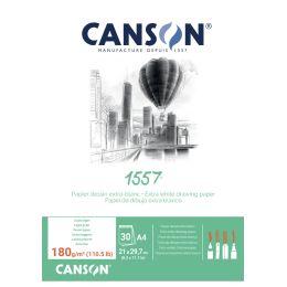 CANSON Skizzenblock 1557, DIN A4, 180 g/qm, rein weiß