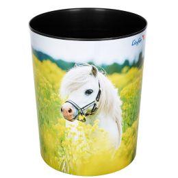 Läufer Papierkorb Pferd im Rapsfeld