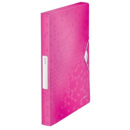 LEITZ Ablagebox WOW, DIN A4, PP, pink-metallic